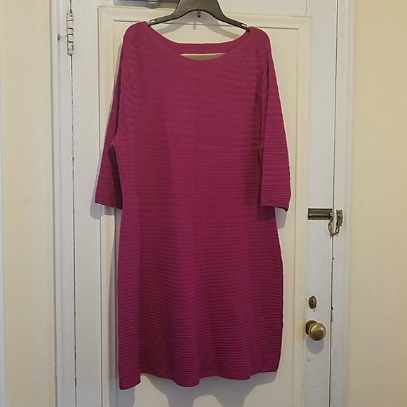 Lane Bryant Dresses & Skirts - Magenta Sweater Dress
